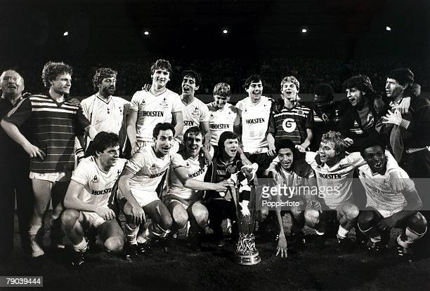 Sport Football UEFA Cup Final Second Leg White Hart Lane London England 23rd May 1984 Tottenham Hotspur 1 v Anderlecht 1 The victorious Tottenham...