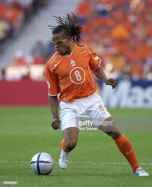 Sport Football UEFA European Championships Euro 2004 Dragao Stadium Porto 15th June 2004 Germany 1 v Holland 1 Edgar Davids of Holland
