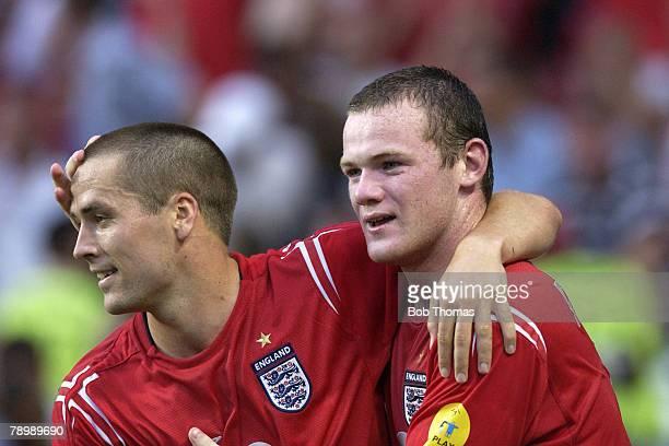 Sport, Football, UEFA European Championships, Euro 2004, Estadio Da Luz, Lisbon, 21st June 2004, Croatia 2 v England 4, Wayne Rooney celebrates with...
