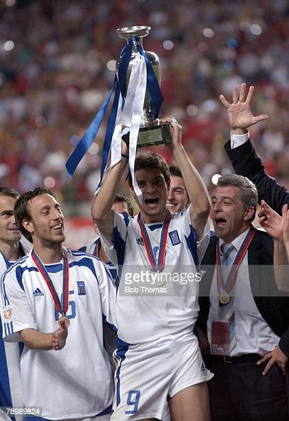Sport Football UEFA European Championships Euro 2004 Estadio Da Luz Lisbon 4th July 2004 Final Portugal 0 v Greece 1 Scorer of the winning goal for...