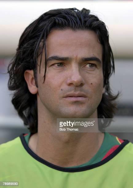 Sport Football UEFA European Championships Euro 2004 Jose Alvalade Stadium Lisbon 30th June 2004 SemiFinal Portugal 2 v Holland 1 Fernando Couto of...