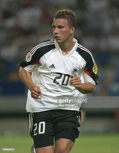 Sport Football UEFA European Championships Euro 2004 Jose Alvalade Stadium Lisbon 23rd June 2004 Germany 1 v Czech Republic 2 Lukas Podolski of...