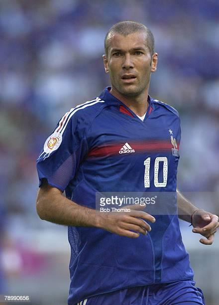 Sport Football UEFA European Championships Euro 2004 Jose Alvalade Stadium Lisbon 25th June 2004 Quarter Final France 0 v Greece 1 Zinedine Zidane of...
