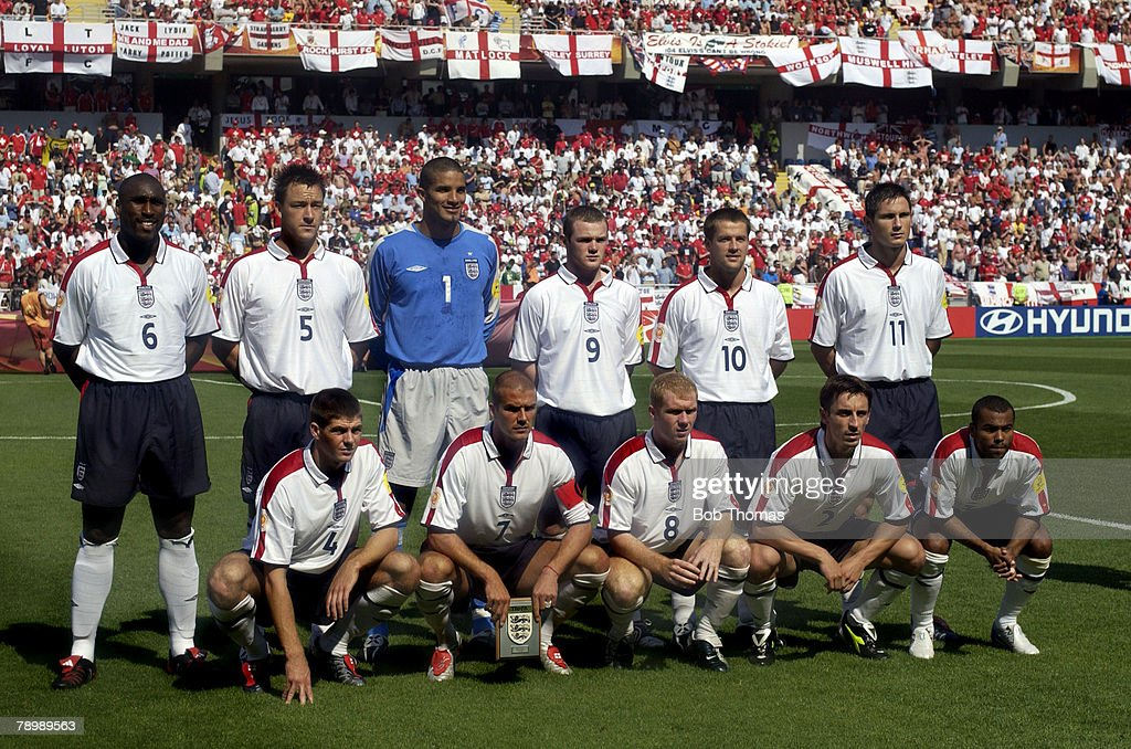 Sport. Football. UEFA European Championships. Euro 2004. Municipal Stadium, Coimbra. 17th June 2004. England 3 v Switzerland 0 : News Photo