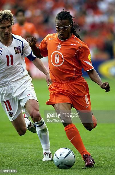 Sport Football UEFA European Championships Euro 2004 Municipal Stadium Aveiro 19th June 2004 Holland 2 v Czech Republic 3 Czech Republic's Pavel...