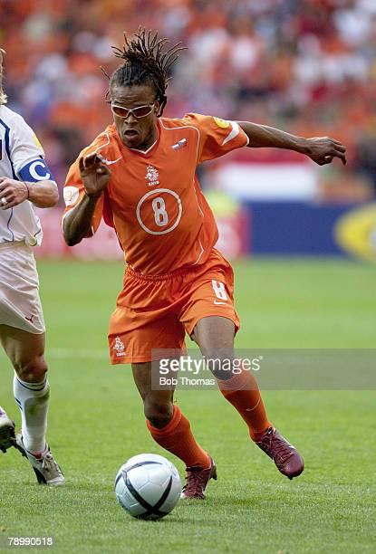 Sport Football UEFA European Championships Euro 2004 Municipal Stadium Aveiro 19th June 2004 Holland 2 v Czech Republic 3 Edgar Davids of Holland