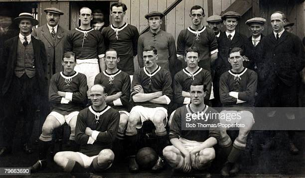 Sport, Football, Wales International team that beat England 2-1 in Cardiff, October 11th 1919, Back row L-R: G,Latham, trainer, H,Griffiths, W,F,A,,...