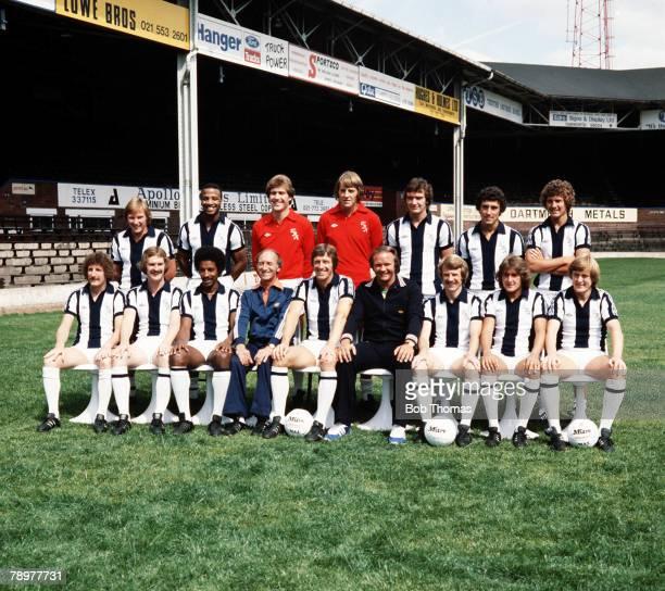 Sport Football West Bromwich Albion circa lr Statham Regis Godden Stewart ABrown Trewick Robson lr TBrown Robertson Batson GWright Wile Ron Atkinson...