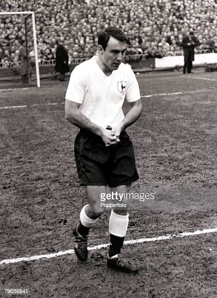 Sport Football White Hart Lane London England League Division One 17th December 1961 Tottenham Hotspur v Blackpool Jimmy Greaves prepares to play his...