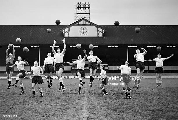 Sport Football White Hart Lane London England The Tottenham Hotspur 'Double' winning side of 19601961 season winners of the League Championship...
