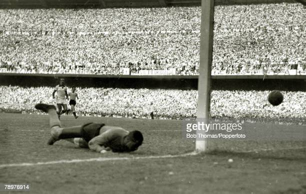 Sport Football World Cup Final 16th July 1950 Maracana Stadium Rio de Janeiro Brazil 1 v Uruguay 2 Brazilian goalkeeper Barbosa has been beaten at...