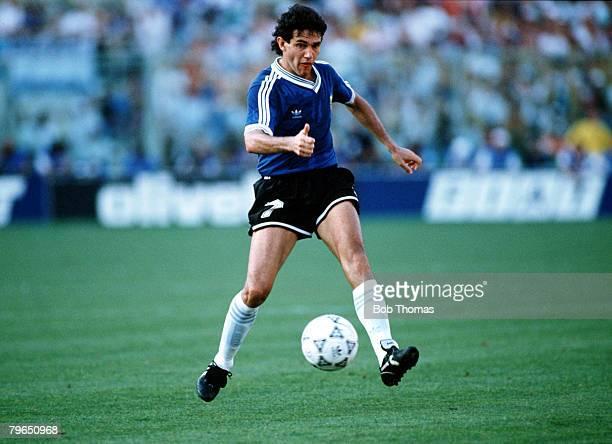 Sport Football World Cup Finals Florence Italy 30th June 1990 QuarterFinal Argentina 0 v Yugoslavia 0 Argentina's Jorge Burruchaga