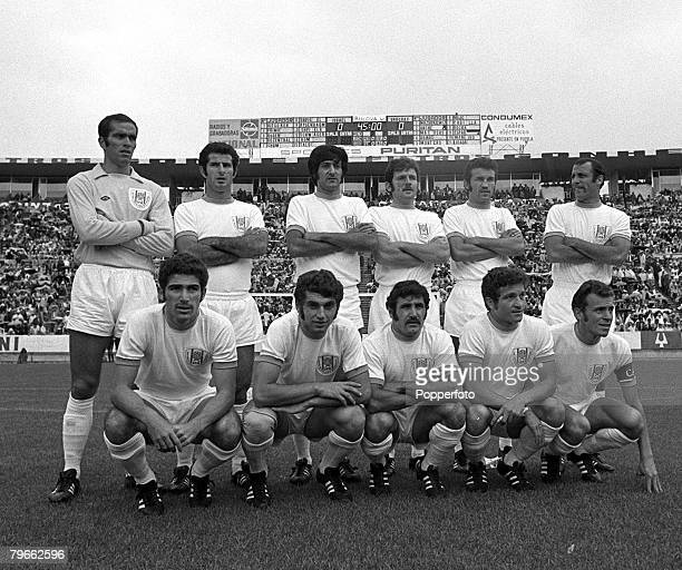 Sport Football World Cup Finals Puebla Mexico 13th June 1970 Group Two Israel v Uruguay The Israel team line up together for a group photograph