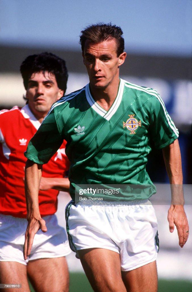 Sport. Football. World Cup Qualifier. Belfast. 21st May 1988. Northern Ireland 3 v Malta 0. Northern Ireland's Jimmy Quinn. : News Photo