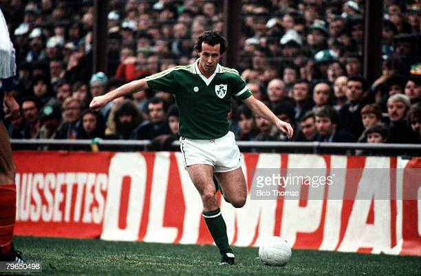 Sport Football World Cup Qualifier Dublin 14th October 1981 Republic of Ireland 3 v France 2 Ireland's Liam Brady