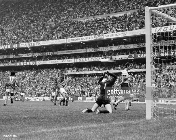 Sport, Football, World Cup Semi-Final, Azteca Stadium, Mexico, 17th June 1970, Italy 4 v West Germany 3, West Germany's golakeeper Sepp Maier is...