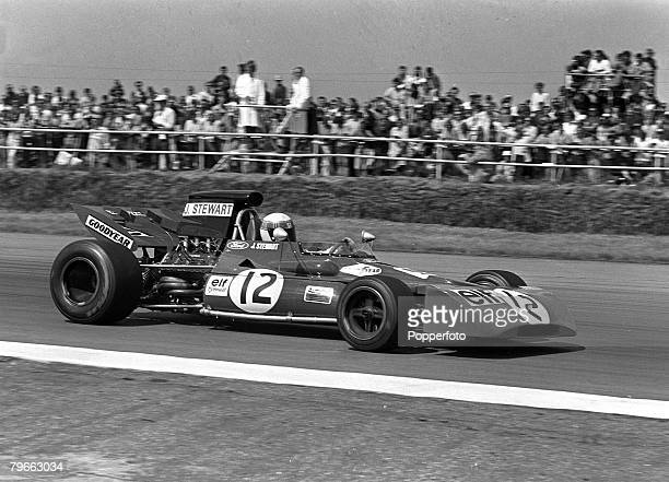 Sport Formula One Motor Racing British Grand Prix Northamptonshire England 17th July 1971 Scotsman Jackie Stewart on his way to winning the race in...