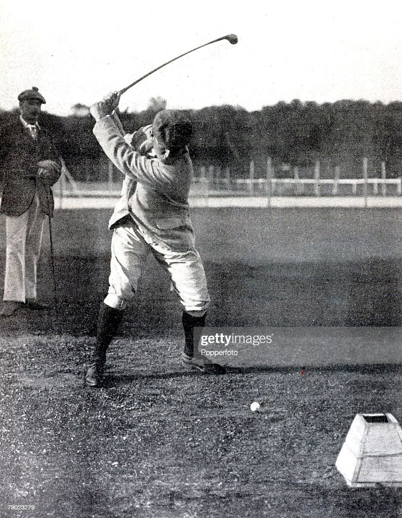Sport. Golf. 1900 Olympic Games. Paris, France. Charles Sands, U.S.A. the winner of the Golf event which is now a discontinued Olympic sport. : News Photo