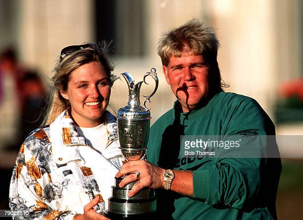 Sport Golf 23rd July British Open Golf Championship at St Andrews America's John Daly with his wife Paulette1995 Open Trophy Championship Winner