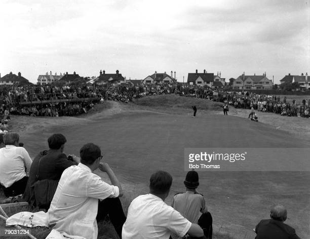 Sport Golf British Open Championship Hoylake England A general view of the gallery watching the putting on the green