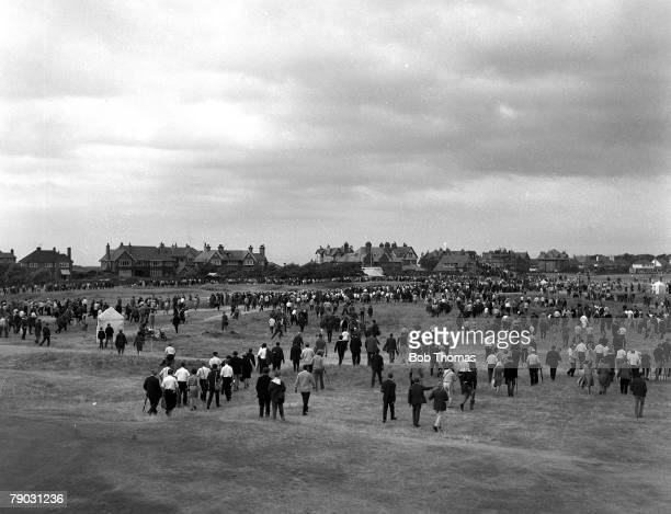 Sport Golf British Open Championship Hoylake England A general view of the gallery moving up the fairway