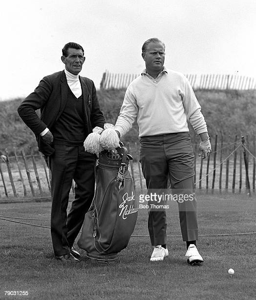 Sport Golf British Open Championship Hoylake England USA's Jack Nicklaus is pictured with his caddy