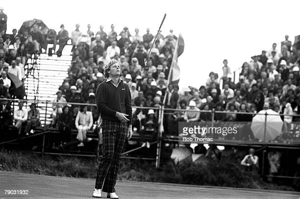 Sport Golf British Open Championship Royal Birkdale Southport England USA's Johnny Miller is pictured on his way to winning the tournament