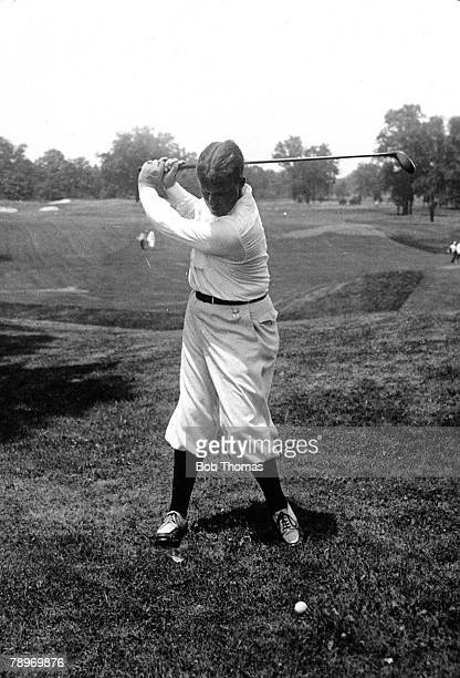 Sport, Golf, Circa 1930, Winged Foot Country Club, Mamaroneck, New York, USA's Bobby Jones,winner of 3 British and 4 U,S,Opens at the top of his...