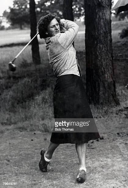 1950's Lady golfer Babe Zaharias at Sunningdale