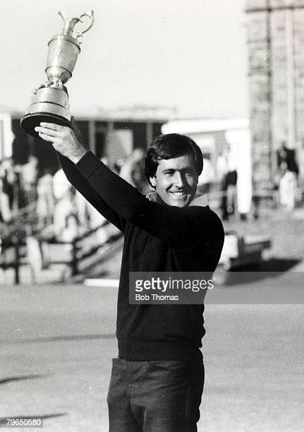 1984 1984 British Open Golf Championship at StAndrews Spain's Severiano Ballesteros born 1957 holds aloft the Claret Jug after his victory Severiano...