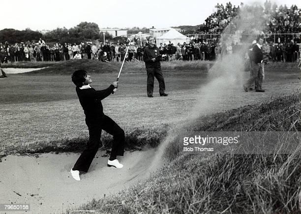 circa 1979 Spain's Severiano Ballesteros born 1957 playing from a bunker Severiano Ballesteros one of Europe's best ever golfers came on to the world...