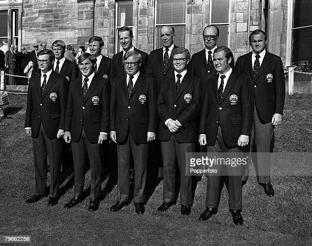 Sport, Golf, St Andrews, Scotland, 26th May 1971, The Walker Cup, Members of the American Walker Cup team are pictured together for a group...