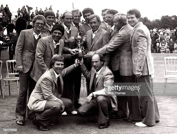 Sport Golf The 1981 Ryder Cup Walton Heath Surrey England USA 18 1/2 v Great Britain 9 1/2 The USA captain Dave Marr and the successful team who were...
