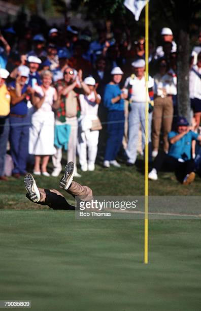 Sport Golf The Ryder Cup Muirfield Village Ohio 25th27th September 1987 USA 13 v Great Britain and Europe 15 Great Britain and Europe's Bernhard...