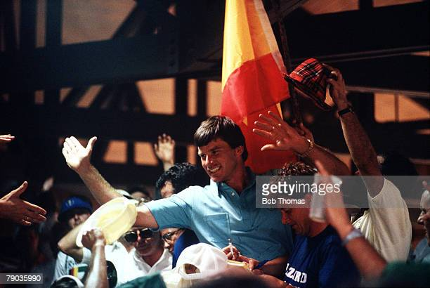 Sport, Golf, The Ryder Cup, Muirfield Village, Ohio, 25th-27th September 1987, USA 13 v Great Britain and Europe 15, Great Britain and Europe's Nick...