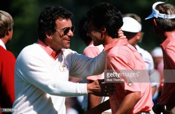 Sport, Golf, The Ryder Cup, Muirfield Village, Ohio, 25th-27th September 1987, USA 13 v Great Britain and Europe 15, Great Britain and Europe's non...