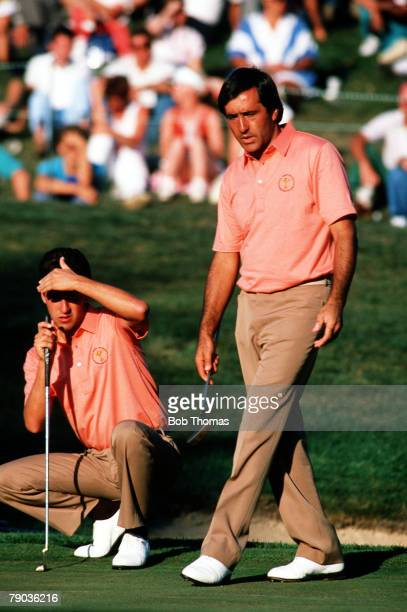 Sport, Golf, The Ryder Cup, Muirfield Village, Ohio, 25th-27th September 1987, USA 13 v Great Britain and Europe 15, Spanish playing partners...