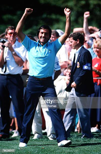 Sport Golf The Ryder Cup Muirfield Village Ohio 25th27th September 1987 USA 13 v Great Britain and Europe 15 Great Britain and Europe's Severiano...