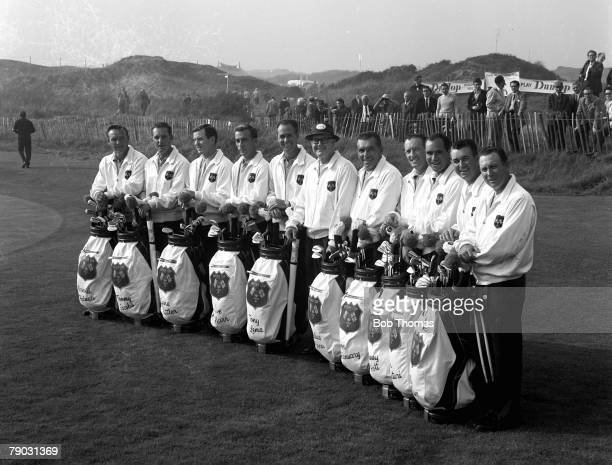Sport Golf The Ryder Cup Royal Birkdale England Great Britain and Ireland 11 v United States 18 The United States team line up together for a...