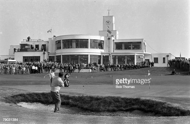 Sport Golf The Ryder Cup Royal Birkdale England Great Britain and Ireland 11 v United States 18 Great Britain and Ireland's Dave Thomas hits out of a...