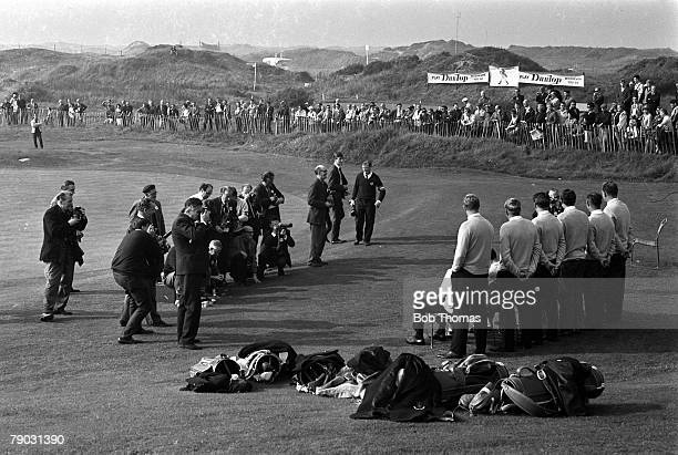 Sport, Golf, The Ryder Cup, Royal Birkdale, England Great Britain and Ireland 11 v United States 18, The Great Britain and Ireland team have a group...