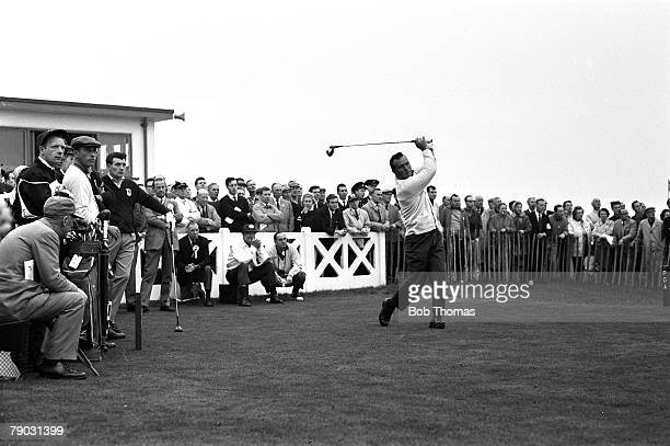 Sport Golf The Ryder Cup Royal Birkdale England Great Britain and Ireland 11 v United States 18 Foursomes USA's Arnold Palmer drives from the tee...