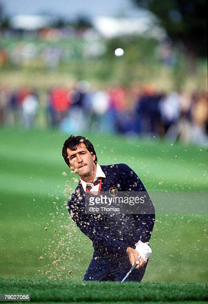 Sport, Golf, The Ryder Cup, The Belfry, England, 13th-15th September 1985, Great Britain and Europe 16 1/2 v USA 11 1/2, Severiano Ballesteros of...