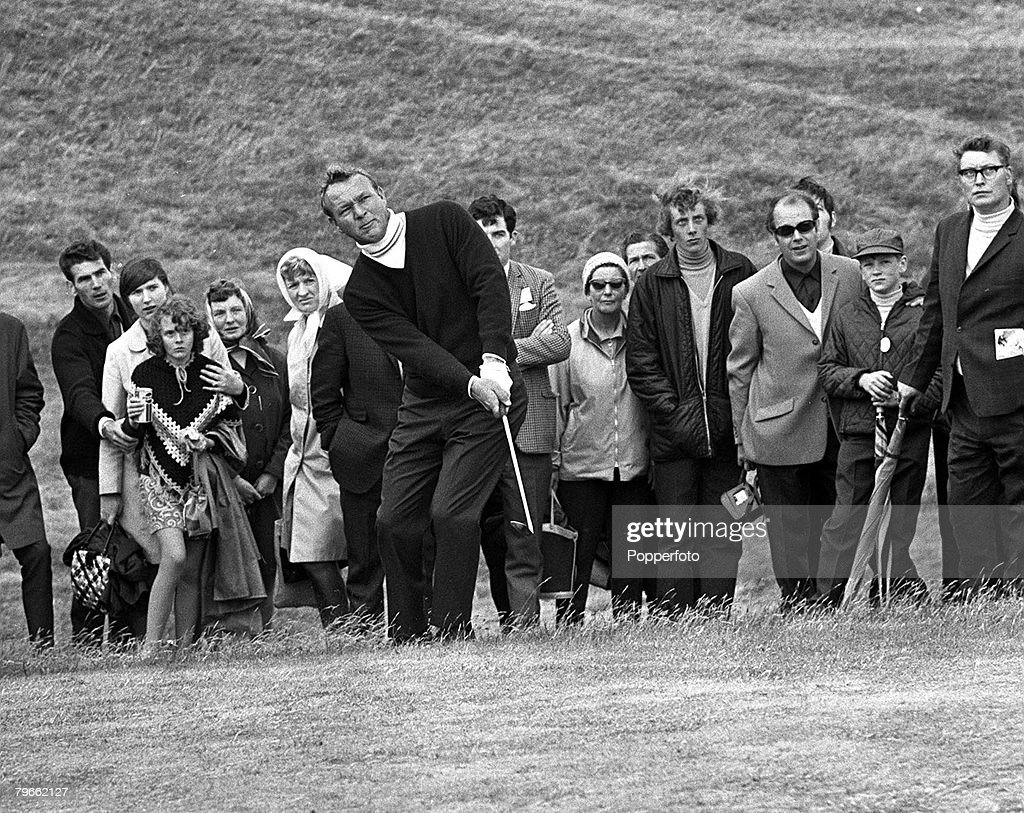 Sport, Golf, Troon, Scotland, 5th July 1970, Sean Connery Invitation Pro/Am Tournament, USA's Arnold Palmer plays a shot during the 36 hole 15,000 tournament : News Photo