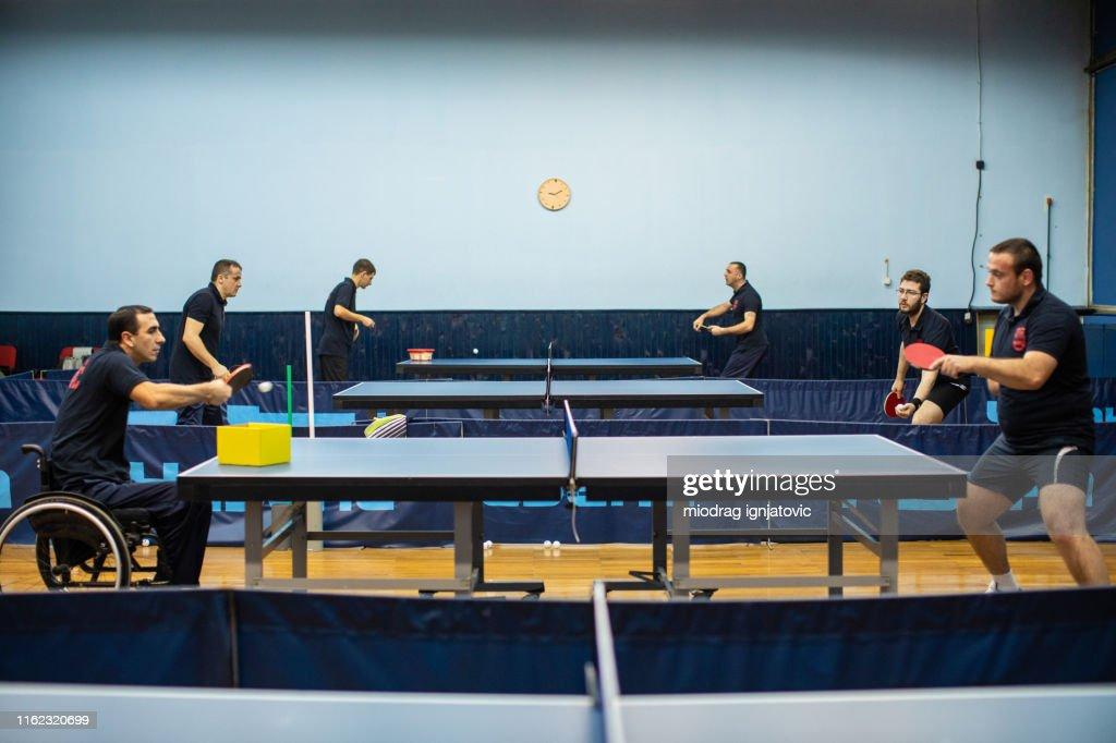 Sport hall for table tennis : Stock Photo