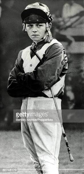 9th November 1966 The 18 year old apprentice Sandy Barclay the jockey who had just signed to ride for the Noel Murless stable