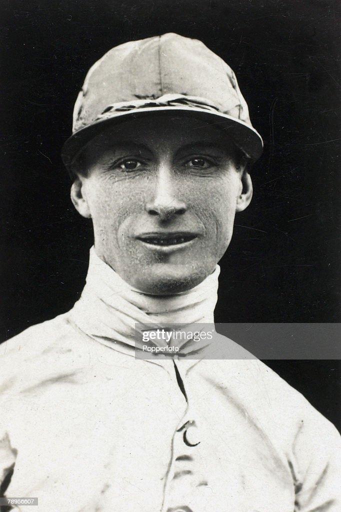 circa 1923, Famous jockey Steve Donoghue, who won 14 classic races between 1915-1937