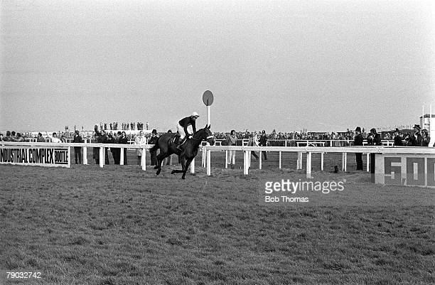 Sport Horse Racing The Grand National Aintree Liverpool England 30th March 1974 The horse Red Rum ridden by jockey Brian Fletcher wins the race