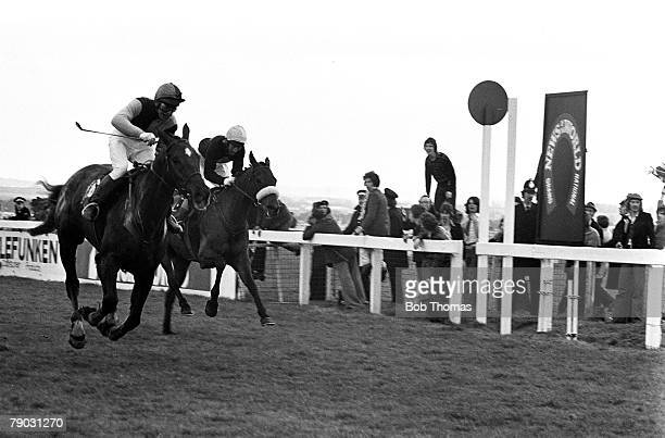 Sport Horse Racing The Grand National Aintree Liverpool England 3rd April 1976 The horse Rag Trade ridden by jockey John Burke wins the race from Red...