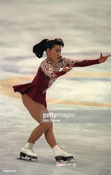 Sport Ice Skating 1992 Winter Olympic Games in Albertville Midori Ito Japan the silver medal winner